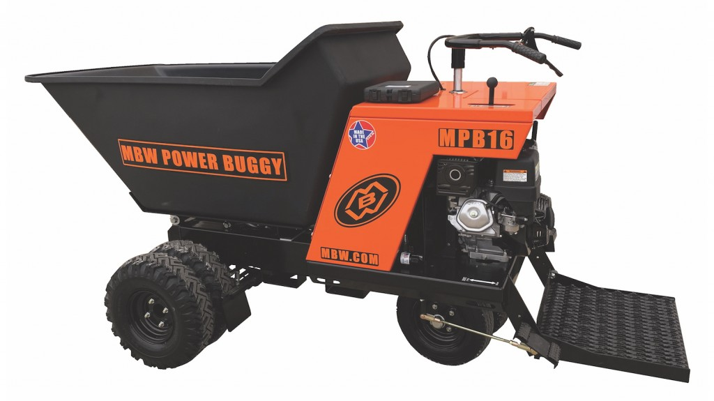 MBW releases power buggy with foot operated dump lever