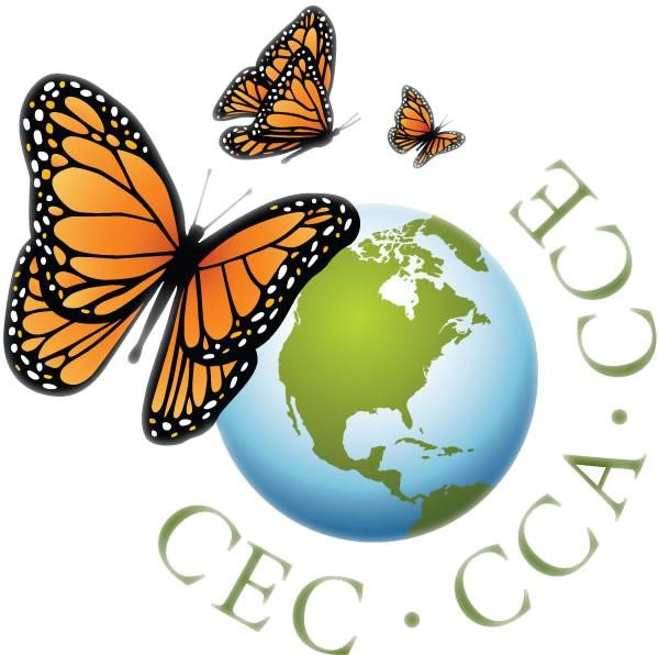 CEC logo butterflies around globe