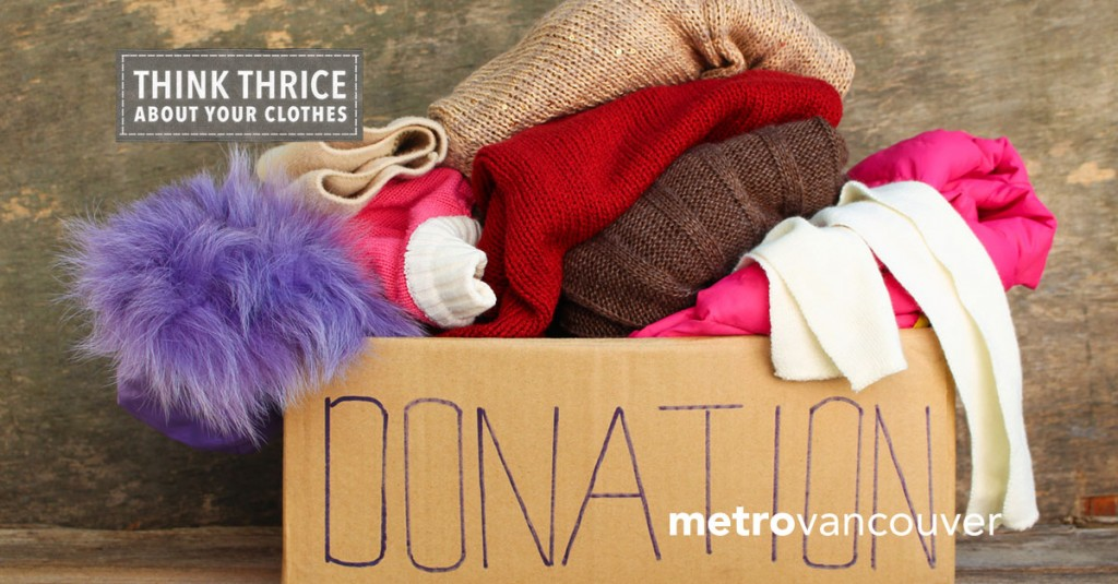 a box of donating clothing