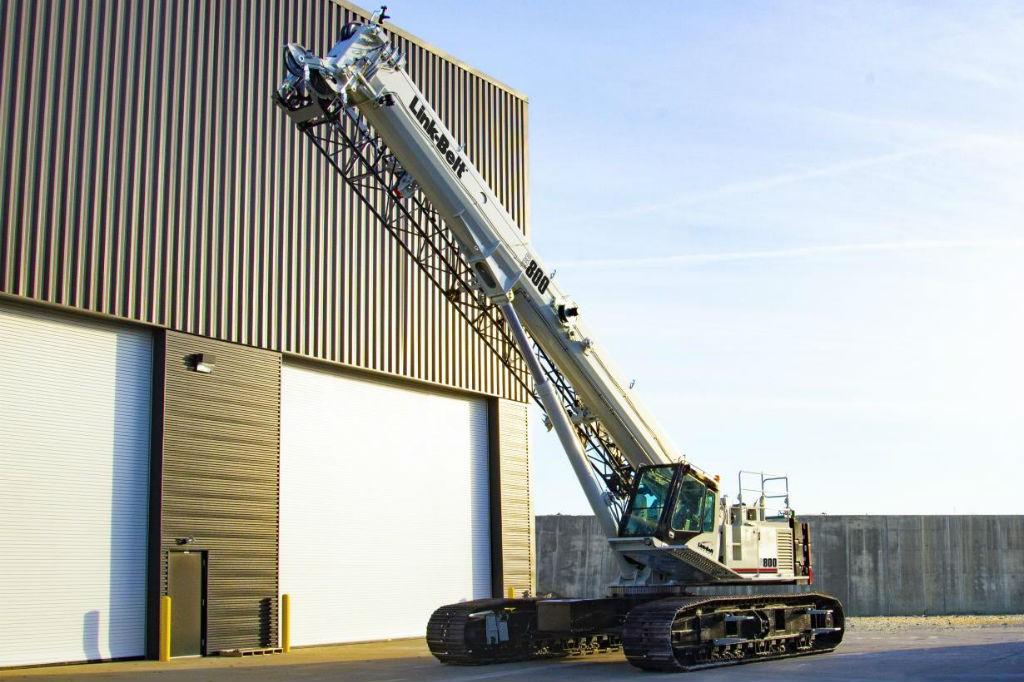 The all-new 80-ton (75-mt) Link-Belt TCC-800 telescopic crawler crane