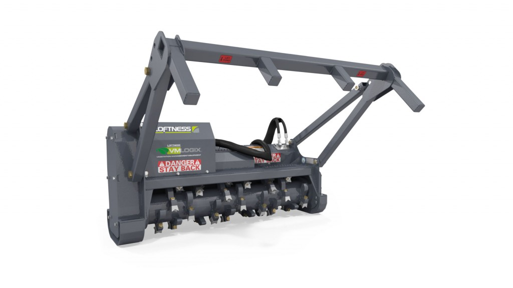 New horizontal drum mulchers from Loftness designed for standard-flow skid steers and compact track loaders