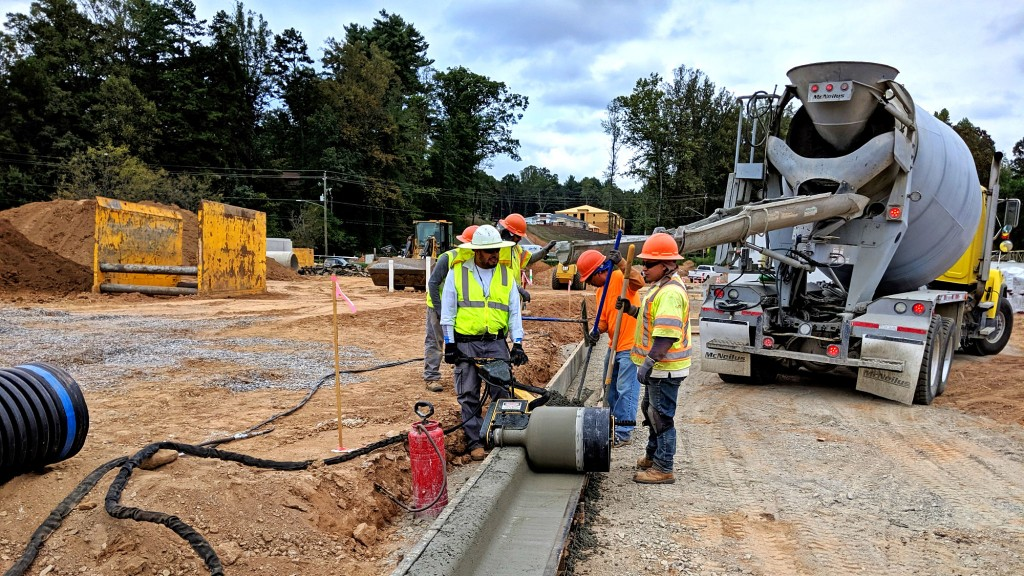The Curb Roller CM4000 reduces the labor of shaping curb and gutter pours, allowing crews to complete work up to twice as fast as manual methods or face forming.