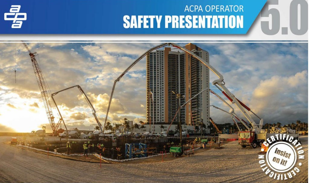 American Concrete Pumping Association launches Certification 2020 training program