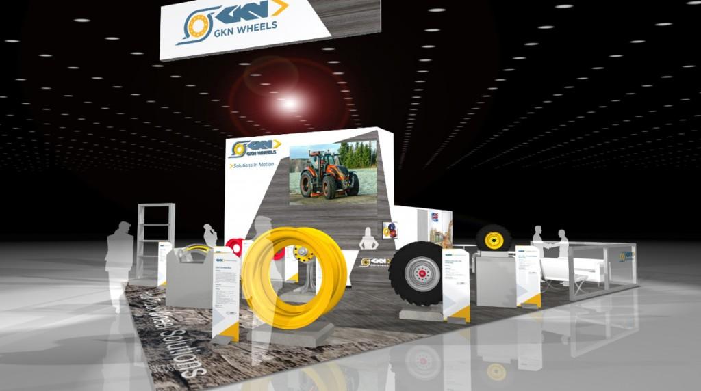GKN Wheels exhibit mockup