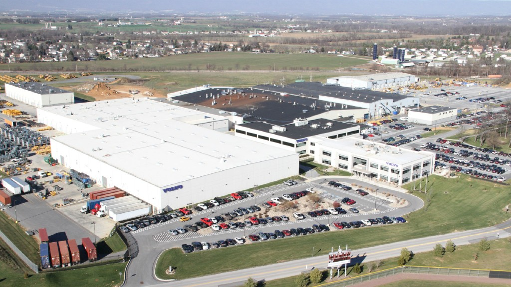 The Volvo Construction Equipment site in Shippensburg, Pennsylvania