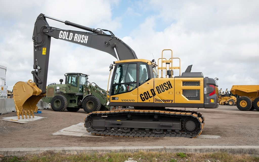 A special edition EC200E excavator designed by Volvo