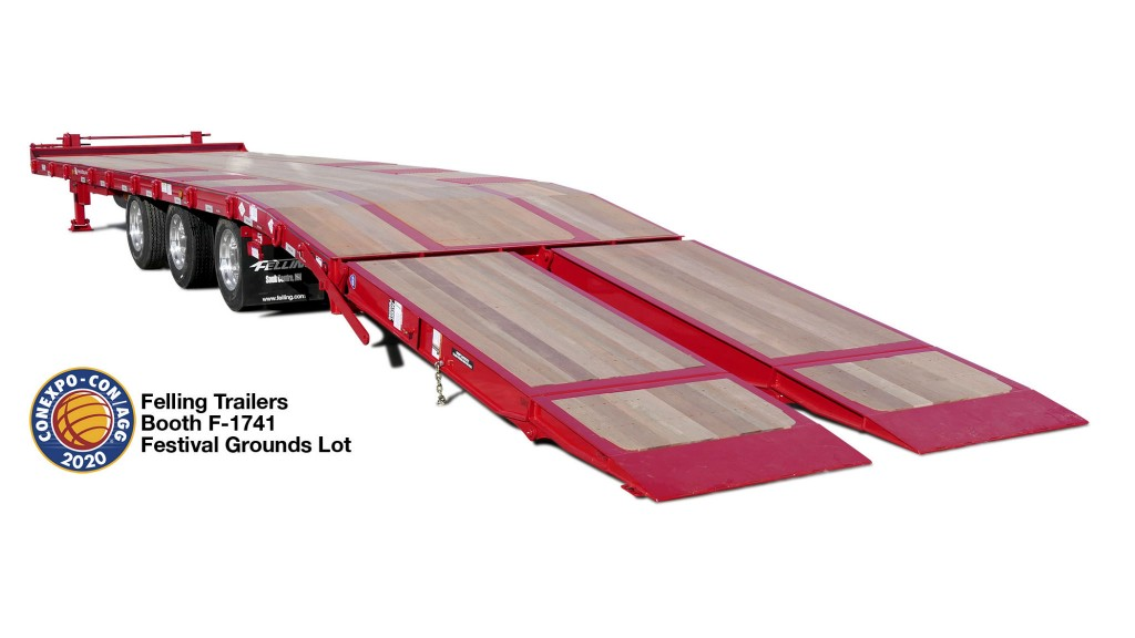 Felling Trailers to showcase Air Bi-Fold Ramps at CONEXPO-CON/AGG 2020