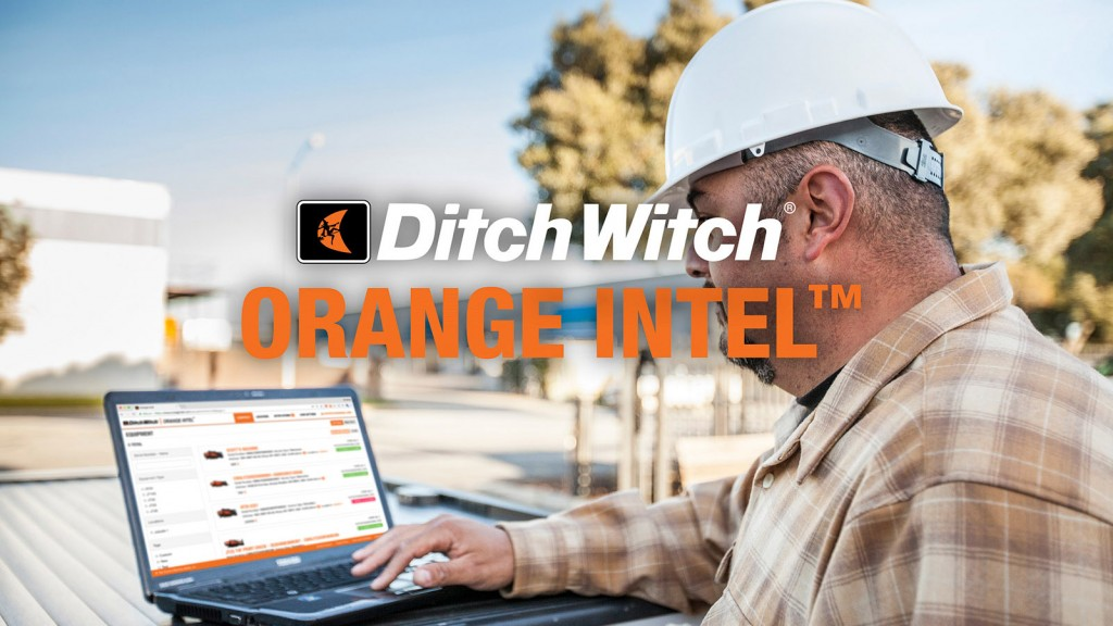 Ditch Witch Orange Intel™ and man with a hard hat