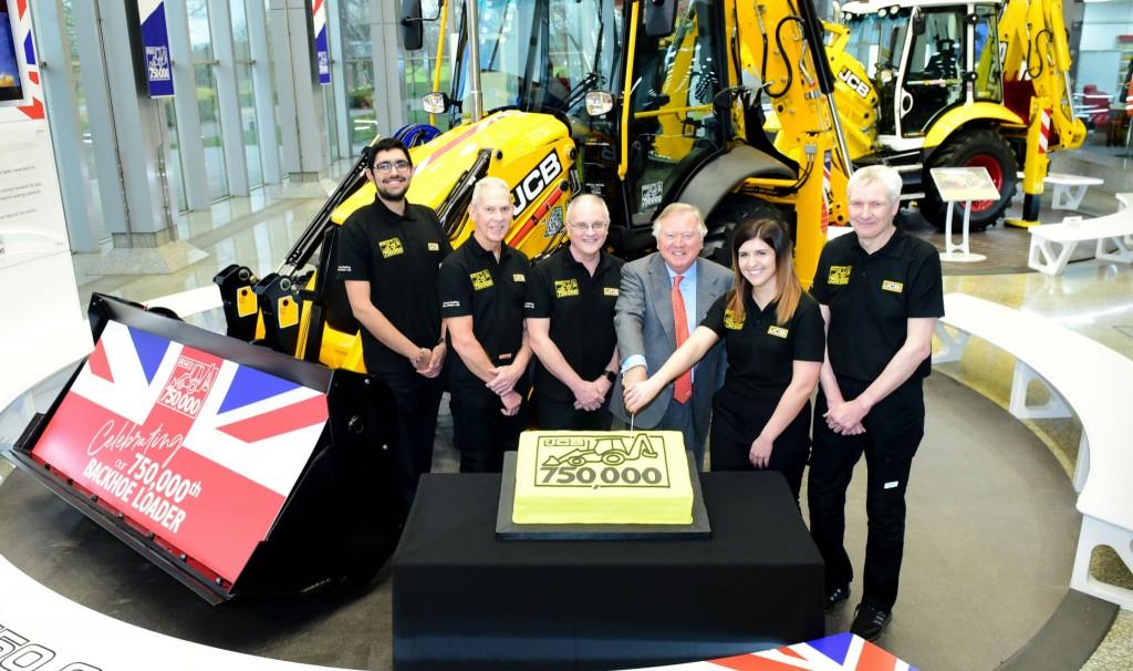 JCB celebrates milestone as 750,000th backhoe rolls off production line
