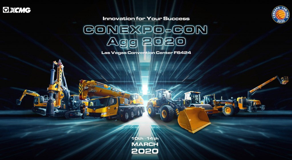 XCMG display of machines for Conexpo 2020