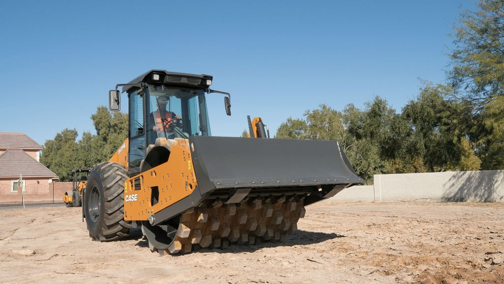 Features include updated frame, engine, cab and drum designs; centrifugal forces and gradeability up to 67 percent.
