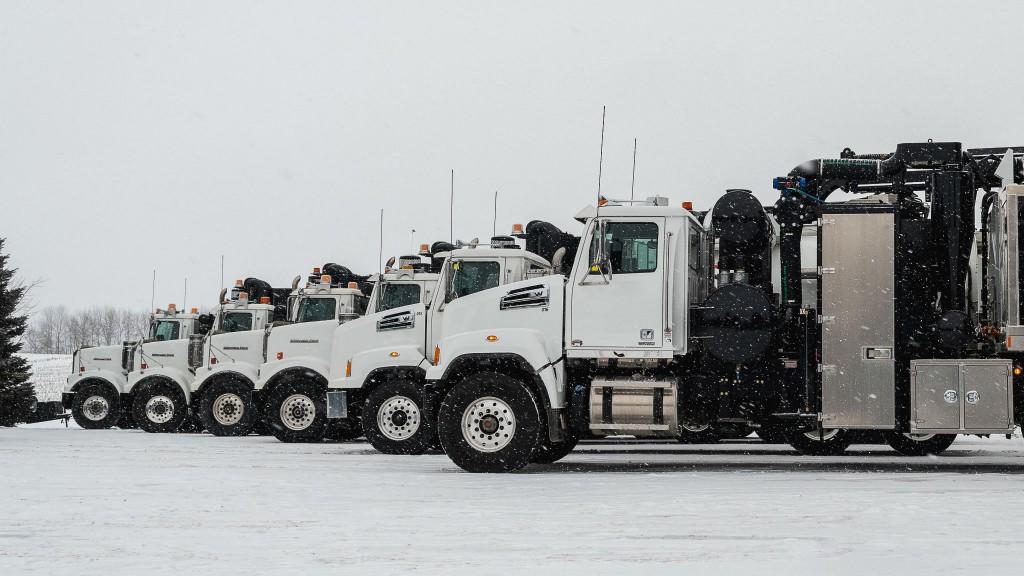 Joe Johnson Equipment's fleet of Western Star Trucks