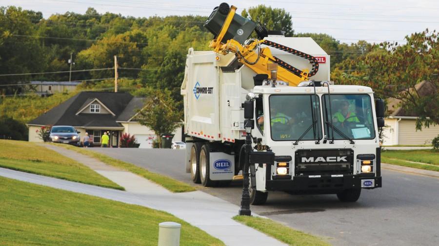 Heil SST sideload garbage truck