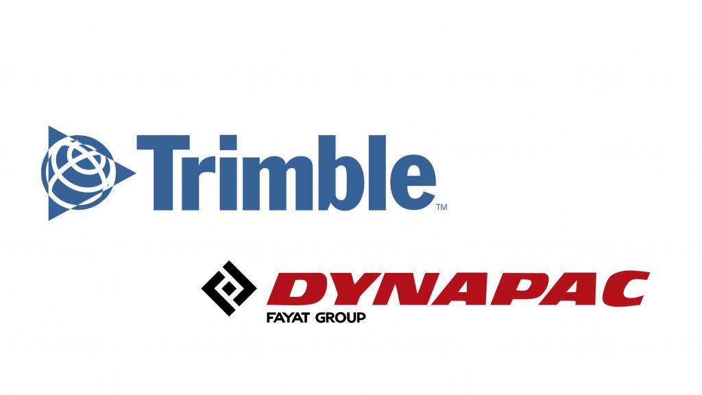 dynapac and trimble logos