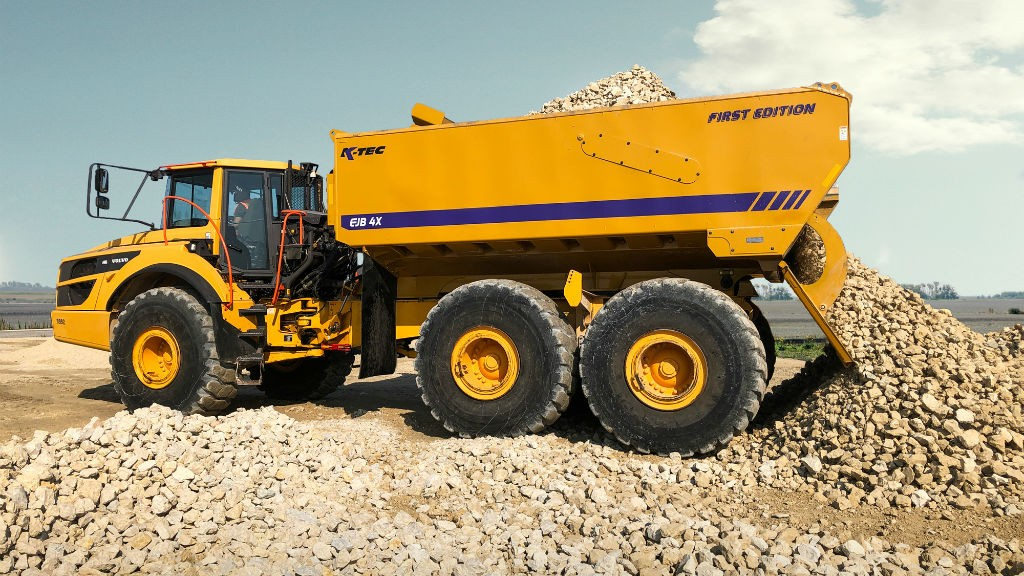 K-Tec introduces ejector box for Volvo articulated dump trucks