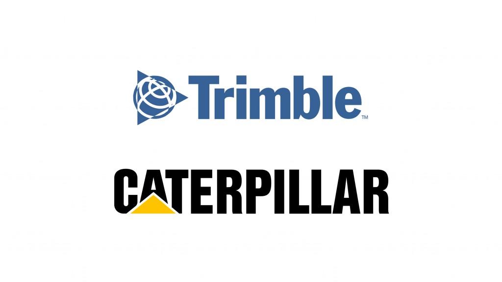 Trimble and Caterpillar logos