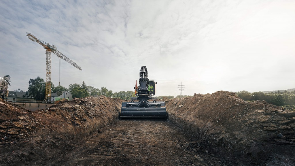 Volvo Active Control makes grading up to 45 percent faster