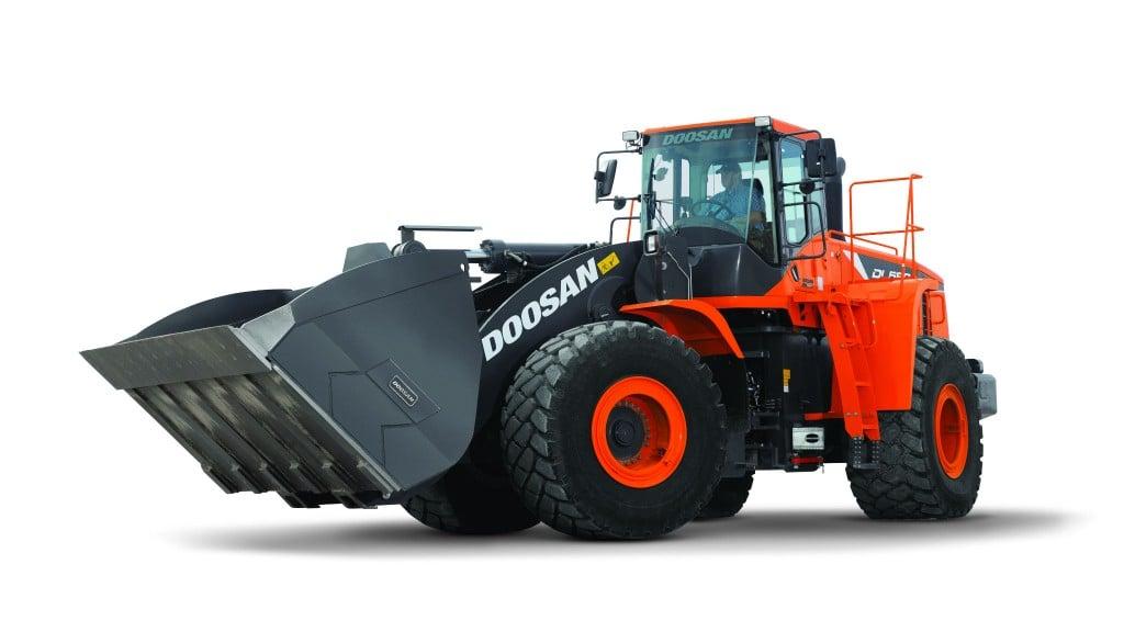 Doosan wheel loader loads more in less passes