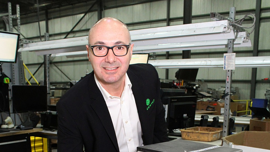 Tony Perrotta at Greentec e-waste plant in Ontario