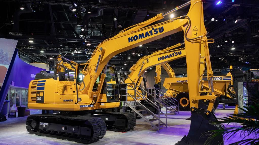 Komatsu new new PC130-11  excavator on display at conexpo