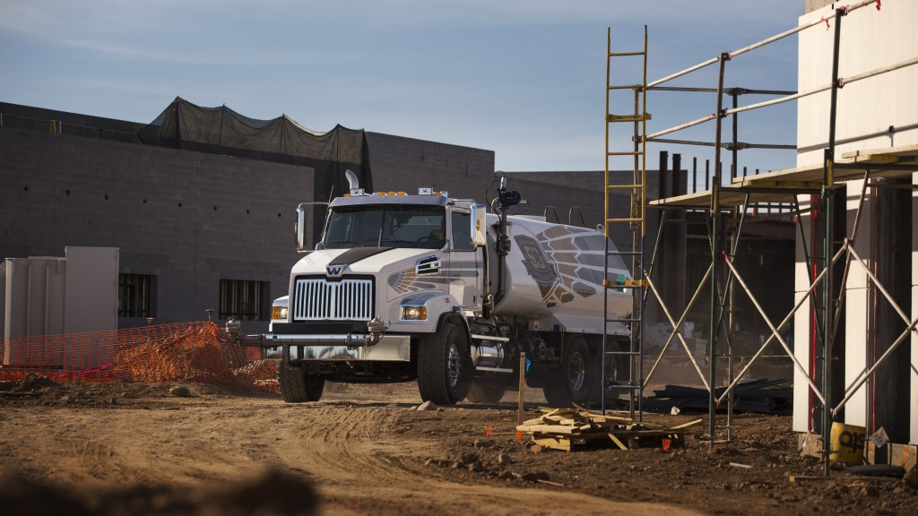 western star vocational truck on a construction site