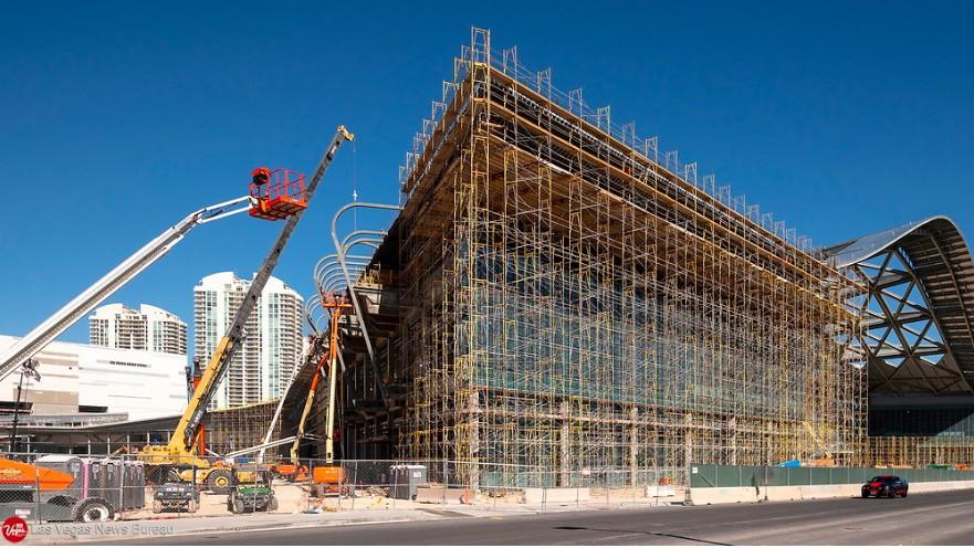 las vegas convention centre expansion in construction