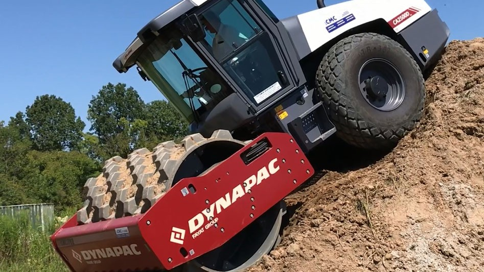 Dynapac High Climb compactor features 55 percent reverse gradeability