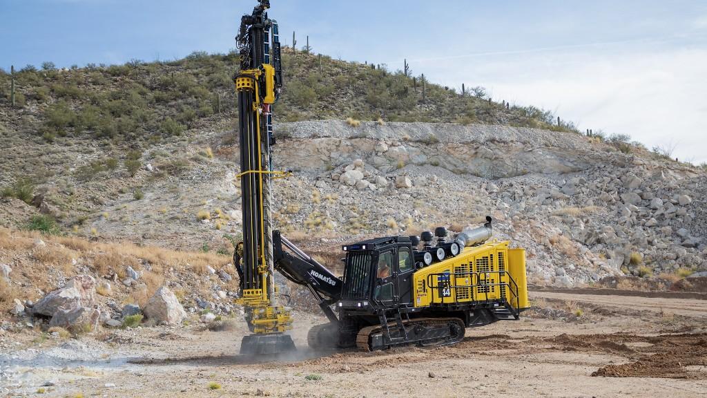 The new Komatsu ZT44 track drill.