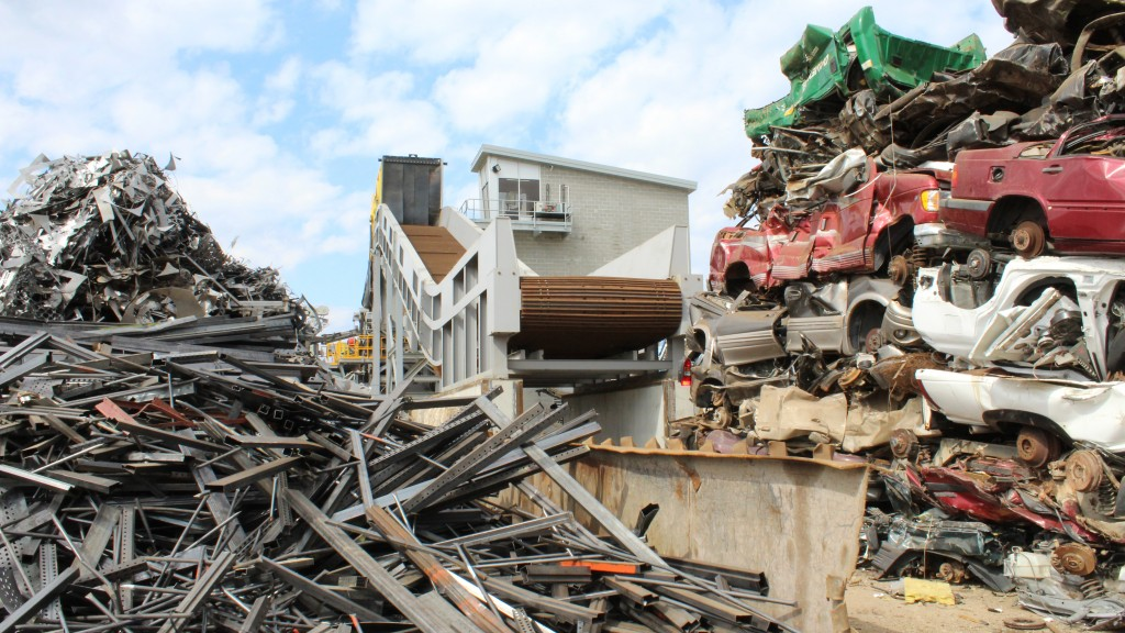 metso recycling equipment in a scrap dump