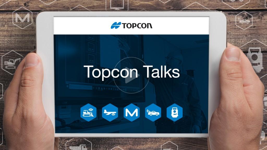 Topcon Talks webinar app as seen on tablet