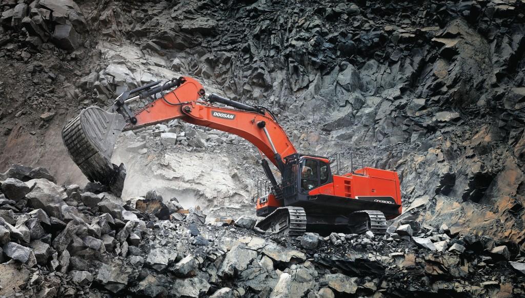 Doosan's DX800LC-7 crawler excavator