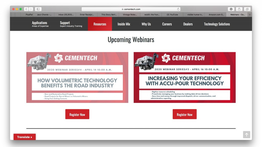 Cemen Tech to hold free April 2020 webinar series