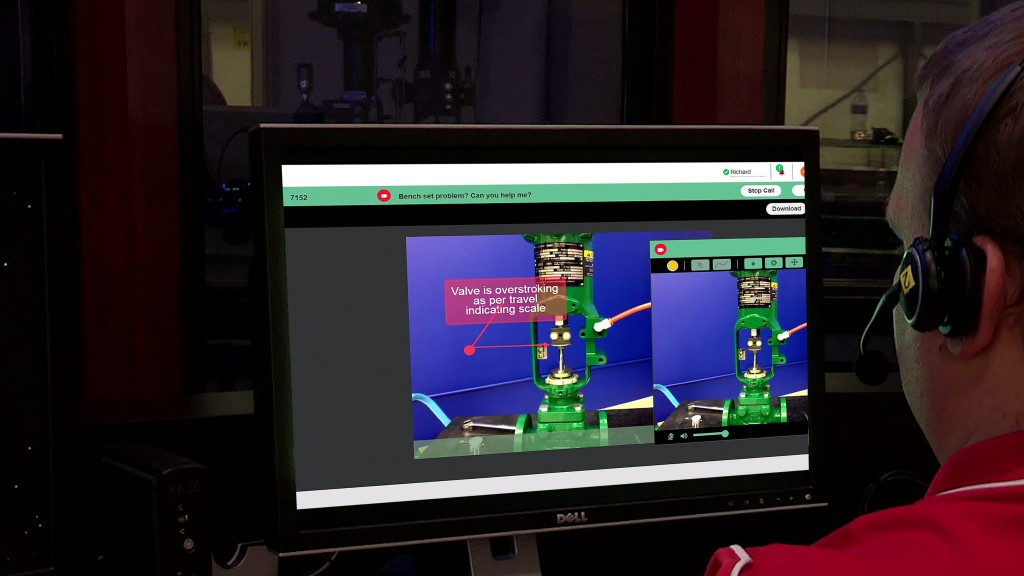 Emerson expert supports valve maintenance virtually via augmented reality technology