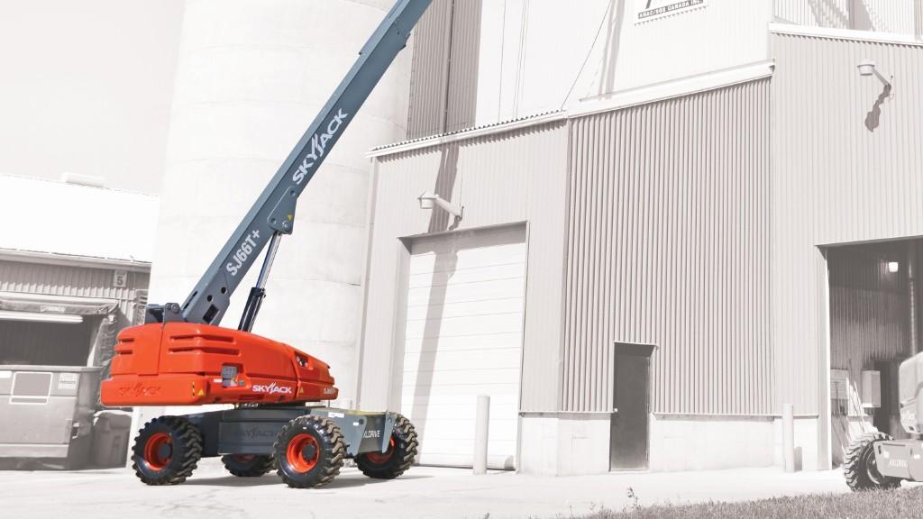Skyjack's enhanced boom range features increased platform capacities