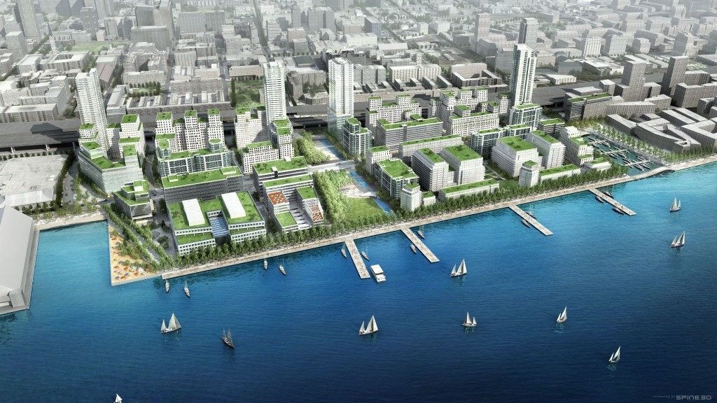 An artist's rendering of East Bayfront
