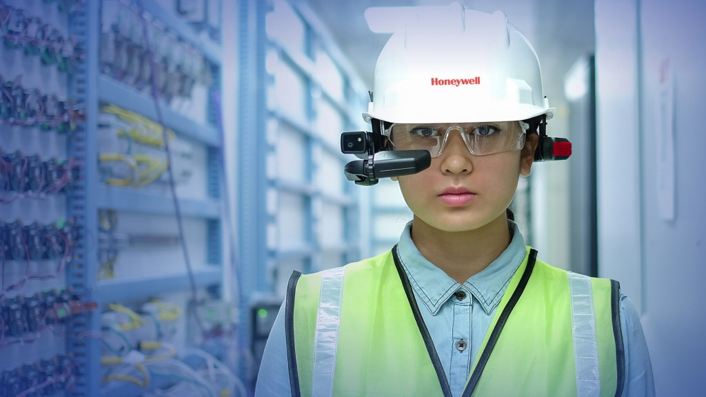 Honeywell worker hooked up with an intelligent wearable