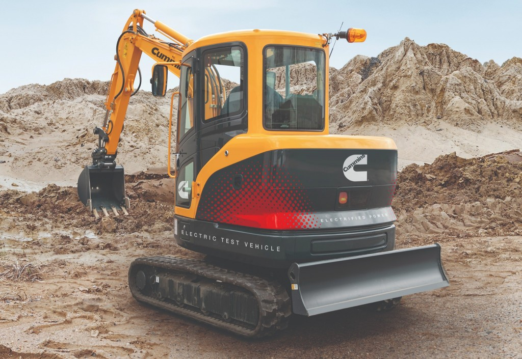 Cummins-powered electric excavator ready to dig