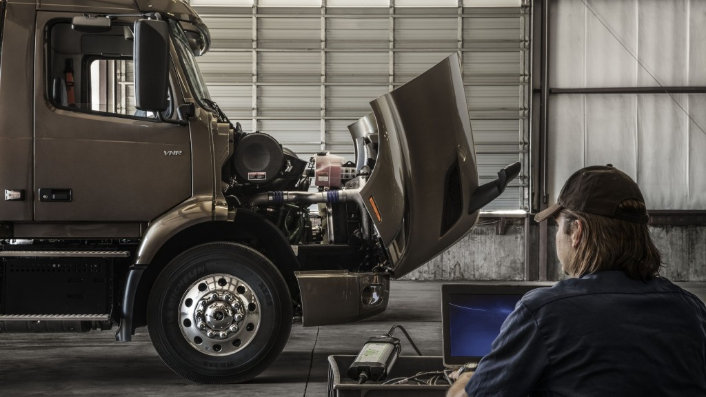 Certified Uptime professionals in the Volvo Trucks North America dealer network are continuing to keep customers running during COVID-19, while also ensuring human safety throughout the service process.