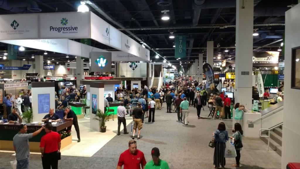 Waste Expo show floor
