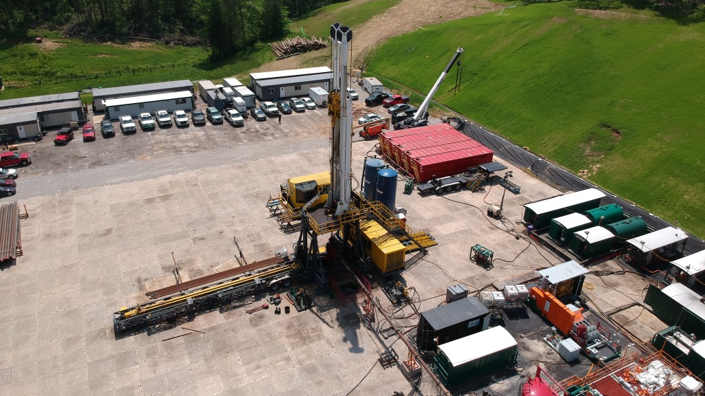 epiroc dh350 oil and gas rig on a site