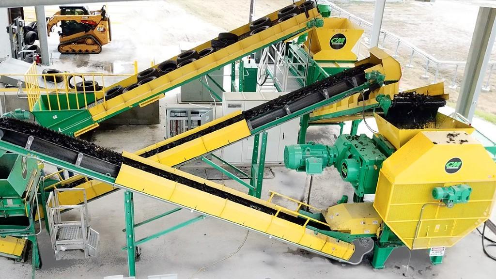 CM Shredders High Capacity TDF (Tire Derived Fuel) System