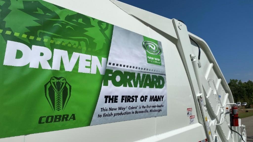 Cobra refuse truck.