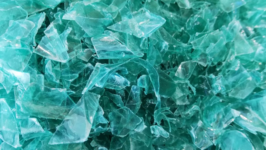 a pile of turquoise plastic flakes