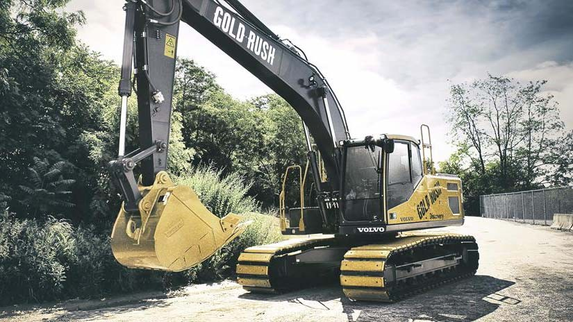 Volvo CE donates $290,000 from Gold Rush excavator auction