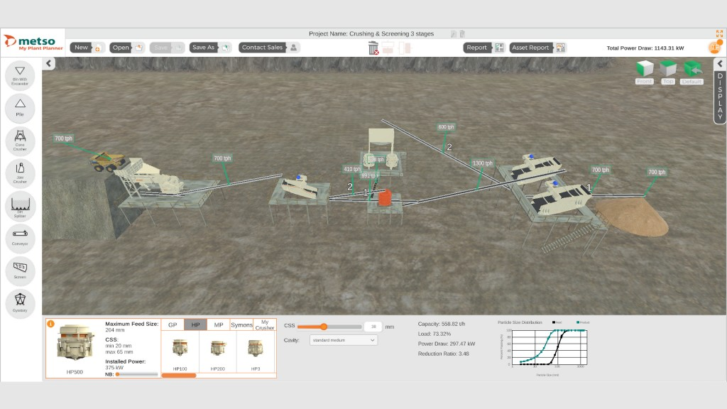 Metso My Plant Planner Real-time simulation