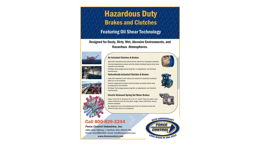Hazardous duty brakes and clutches info graph