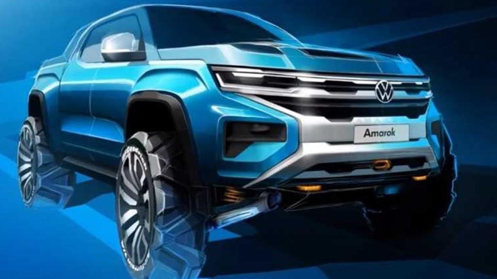 The Volkswagen Amarok teaser.