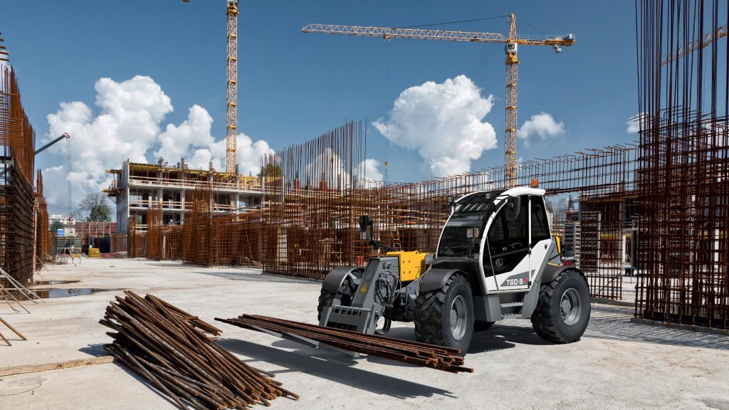 Liebherr telehandler on construction site