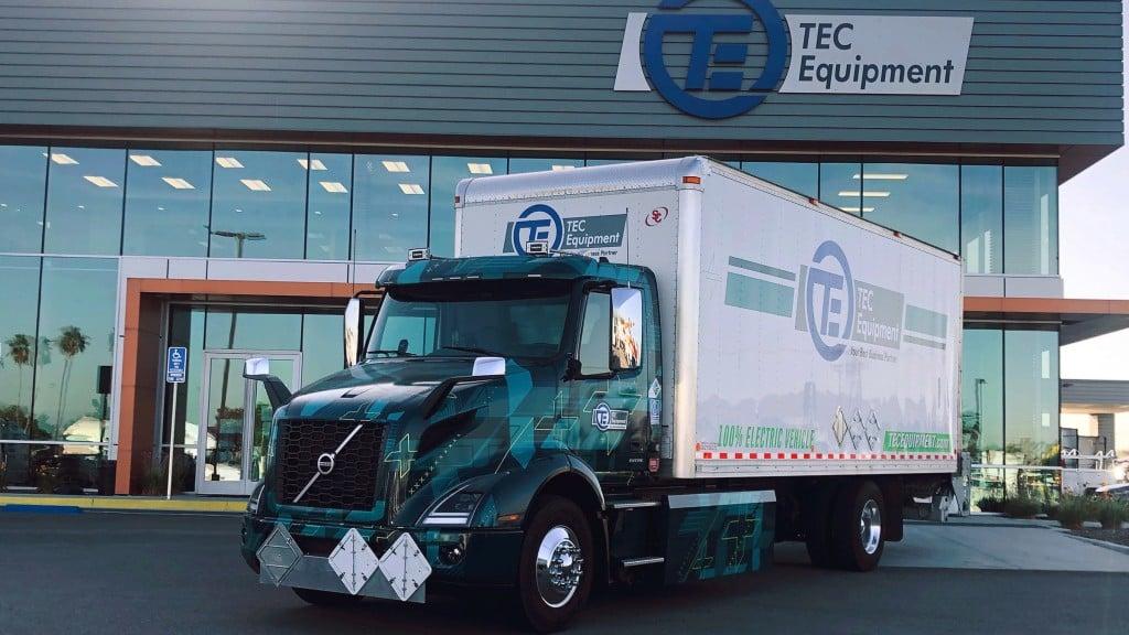 volvo vnr electric deployed for parts distribution at tec fontana dealership