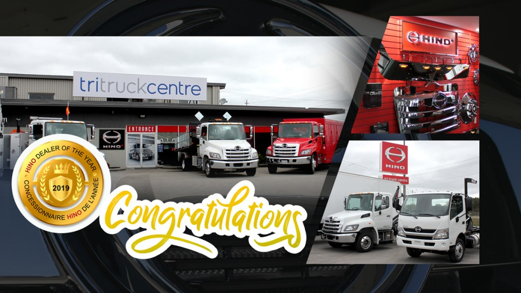 Hino Canada dealer of the year poster